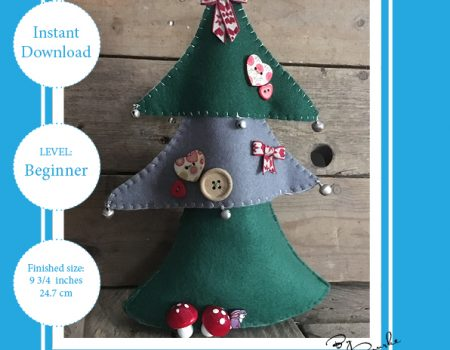 Layered Christmas Tree Free Sewing Pattern PDF