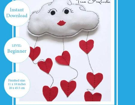 Love Cloud Mobile Sewing Pattern PDF