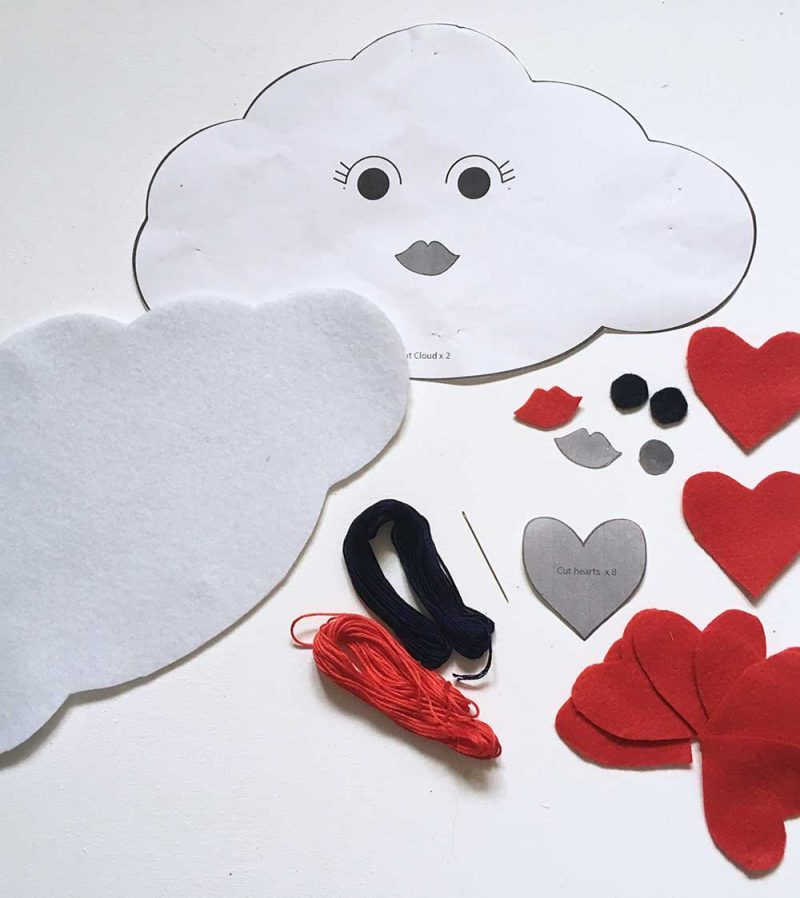Love Cloud Mobile Sewing Pattern