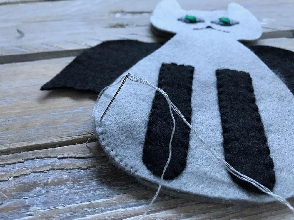 Bat Cat Halloween Sewing Pattern