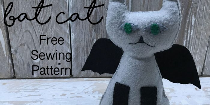 Bat Cat Free Sewing Pattern by Tina O Rourke