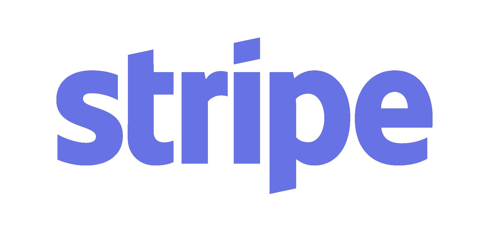 Stripe logo - blue