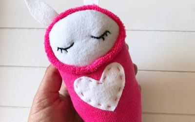 How to Make a Swaddled Sock Bunny