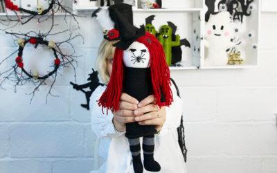 Halloween – Spider Witch Sock Doll DIY