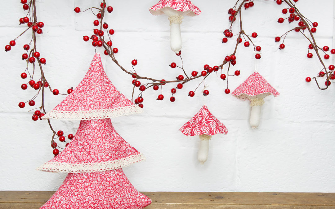 Fabric Layered Christmas Tree