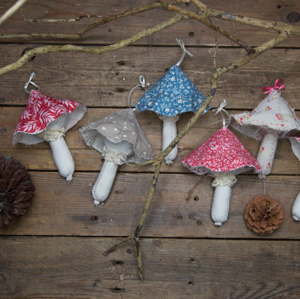 Textile Mushroom Sewing Pattern