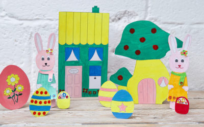 Bunny Paper Doll & Accessories Free Printable