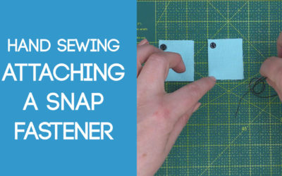 Sewing on a Snap Fastener