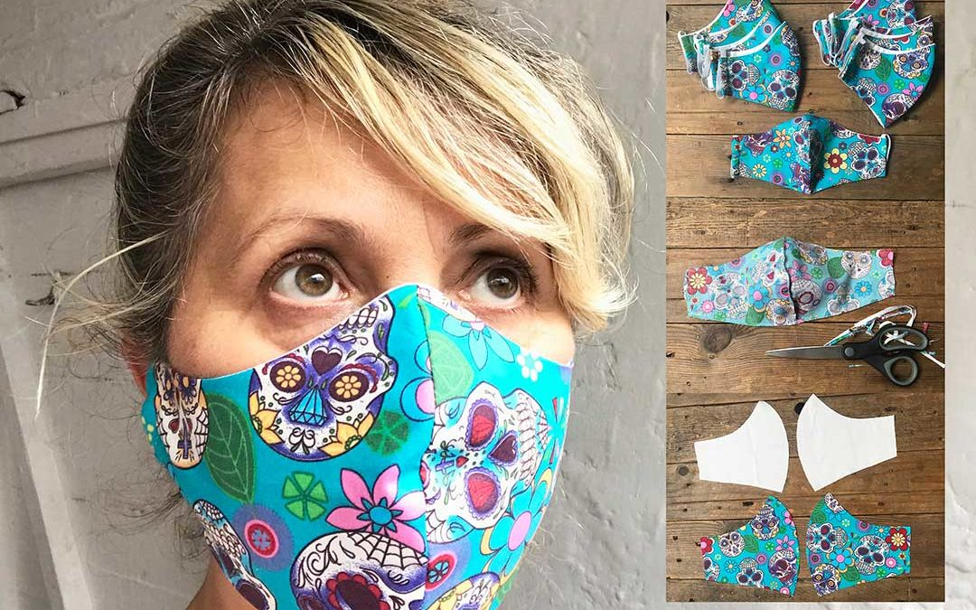 Reusable cloth face mask pattern